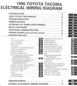 1996 toyota tacoma wiring diagram manual original