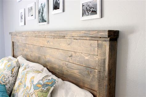 wood diy headboard distressed wood headboard standard king size just like