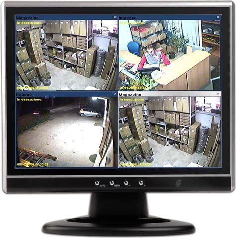 Monitor Di monitor telecamere videosorveglianza archivi sistemi di