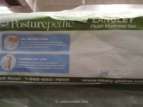 sealy posturepedic langley plush mattress set
