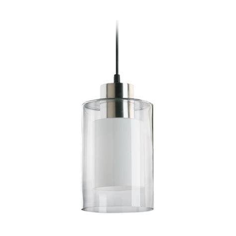 double mini pendant lighting modern mini pendant light with double cylinder glass