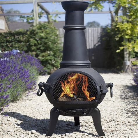 Clay Chiminea With Iron Stand Chiminea Outdoor Heater Modern Patio Outdoor