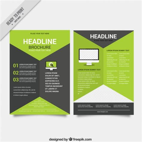 nature brochure template vector premium download modern business brochure template vector premium download