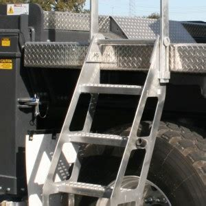 Foldable Stairs 4 Step Trucker Truck Trailer Crane Trucks Fall