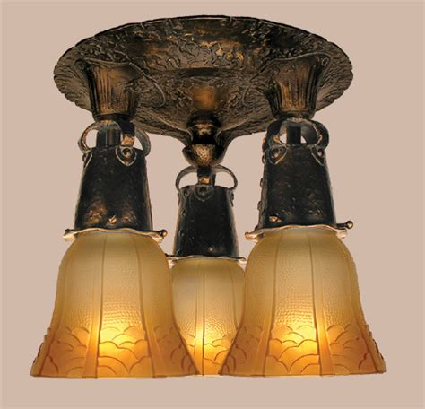 Arts And Crafts Ceiling Lights Vintage Hardware Lighting Arts Crafts 3 Light Ceiling Light 388 Ccl