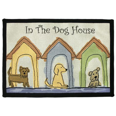 Park B Smith Ltd Pb Paws Co Multi Dog Houses Tapestry Indoor Outdoor Area Rug