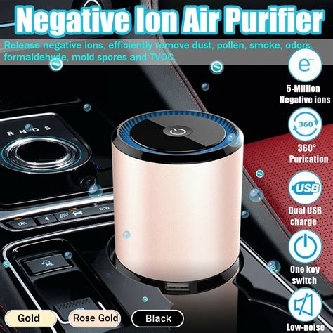 mini auto car air purifier ionizer odor smoke