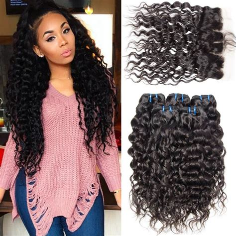 brazilian water wave virgin hair with closure wet and wavy hair 3 100 human wet and wavy brazilian virgin hair water wave