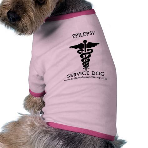 epilepsy service dogs epilepsy service shirt zazzle