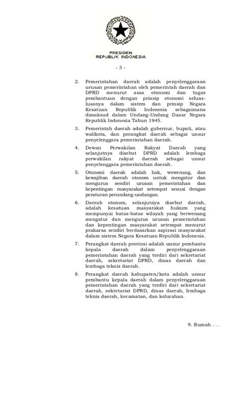 Undang Undang Perangkat Daerah pp41tahun2007 ttg organisasi perangkat daerah