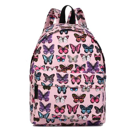 Backpack Butterfly e1401b miss lulu large backpack butterfly pink