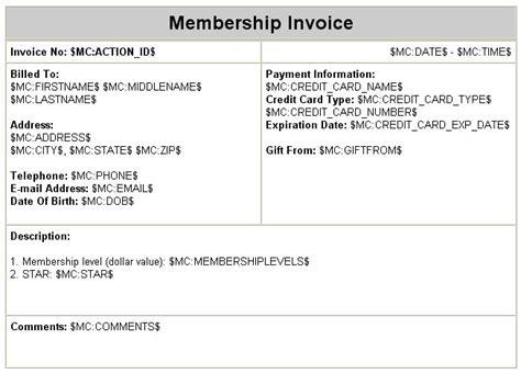 membership invoice template membership invoice template 28 images membership