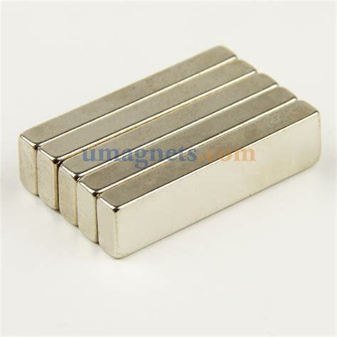 5pcs 40mm x 10mm x 5mm n42 strong neodymium block