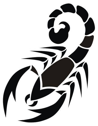 Scorpion Tribal Outline by O Homem E O Escorpi 227 O Crescercomcristo