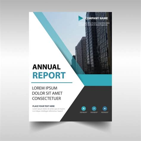 Elegant Blue Professional Annual Report Template Vector Free Download Free Annual Report Template
