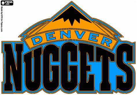 denver nuggets colors free coloring book pages from our users