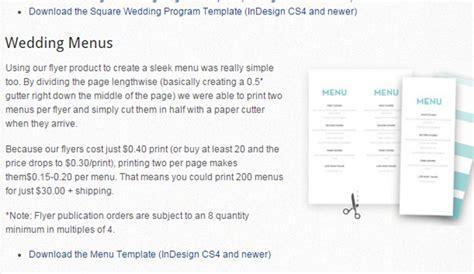 magcloud templates 6 indesign menu template af templates