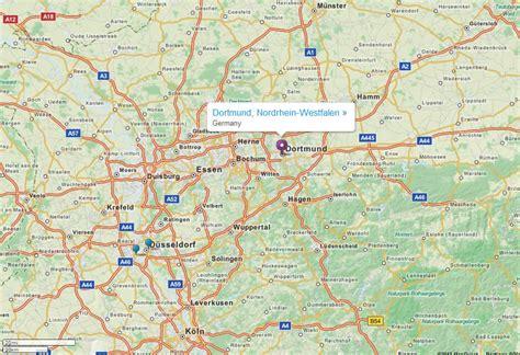 dortmund map of germany dortmund map and dortmund satellite image