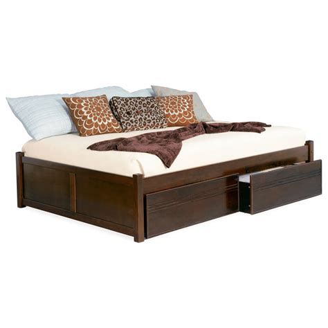flat platform bed concord platform bed w flat panel footboard and drawers