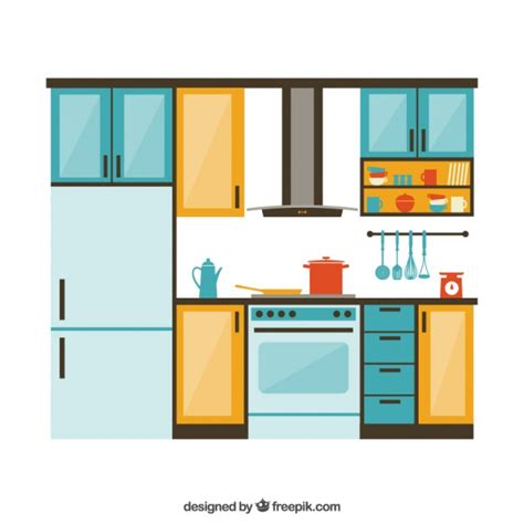 furniture kitchen kitchen furniture vector free