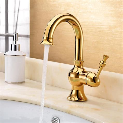 Luxury Bathroom Fixtures by Luxury Polished Brass Single Handle Bathroom Faucets Dl