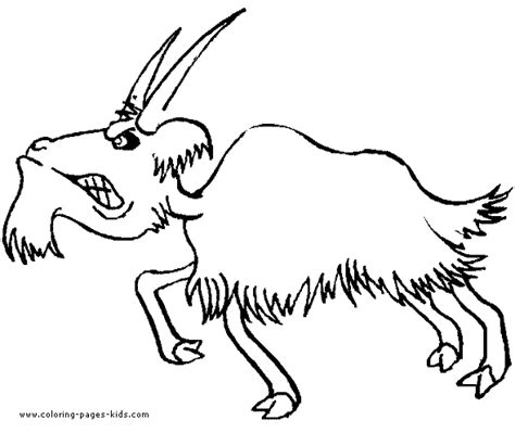 farm goat coloring page mad goat color page