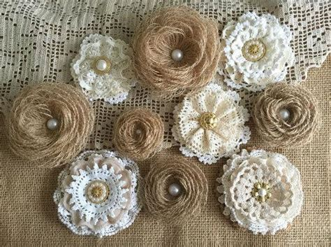 craft lace projects 10 rustic lace and burlap handmade flowers wedding cake