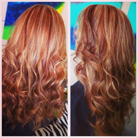 copper blond hair wiki copper hair with blonde highlight and red lowlights on a
