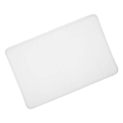 White Bath Mat by White Microfibre Memory Foam Bathroom Bath Mat 50x80cm Bamboobliss