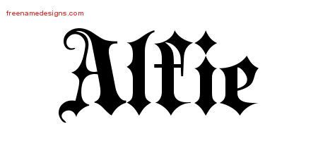 alfie tattoo designs name designs alfie free lettering