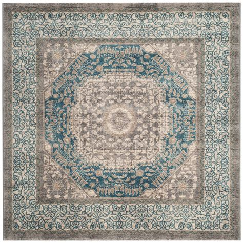 sofia the rug safavieh sofia light gray blue 5 ft 1 in x 5 ft 1 in square area rug sof365a 5sq the home