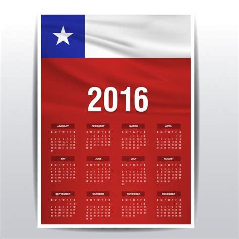 Calendario Chile 2016 Calendario De Chile De 2016 Descargar Vectores Gratis