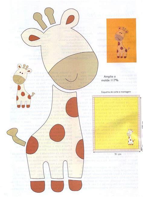 imagenes de jirafas en foami jirafa de fieltro patrones imagui