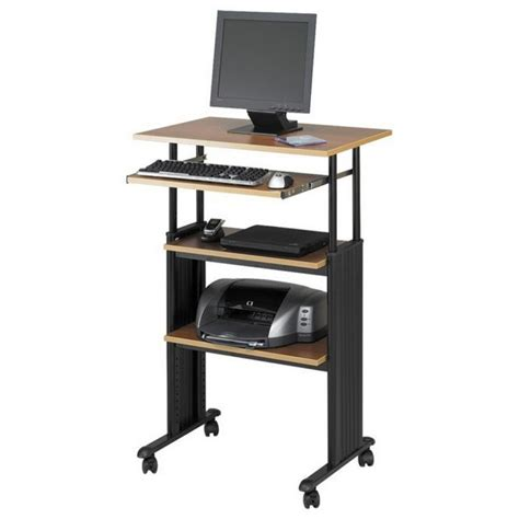 Small Computer Desk With Shelves Furniture Stylish Small Adjustable Height Standing Laptop Desk On Wheels Amazing Small