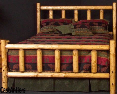 rustic log bed king size ships in 3 5 days ebay