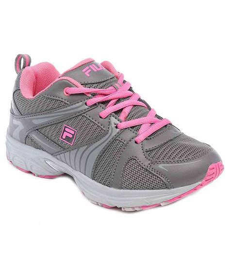 fila grey and pink running sports shoes price in