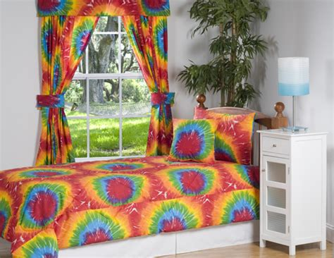 tie dye bed set 3pc bright multicolor rainbow tie dye design kid s