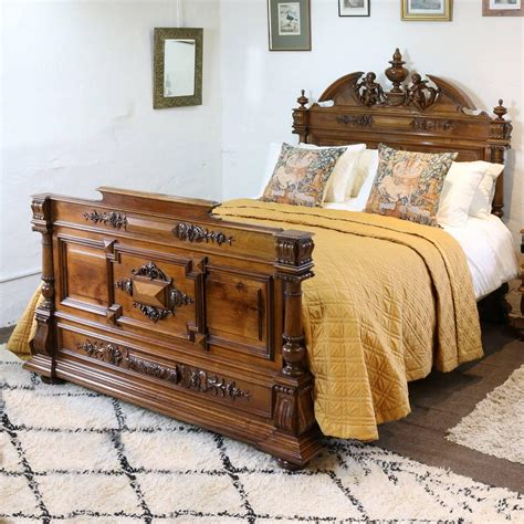 renaissance bed renaissance style walnut bed with cherubs wk69 for sale