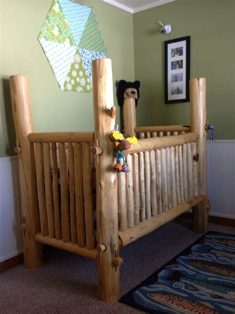 Handmade Wooden Crib - 25 best ideas about log crib on rustic baby