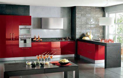 imagenes de cocinas integrales rojas dise 241 os de cocinas integrales en color rojo y negro