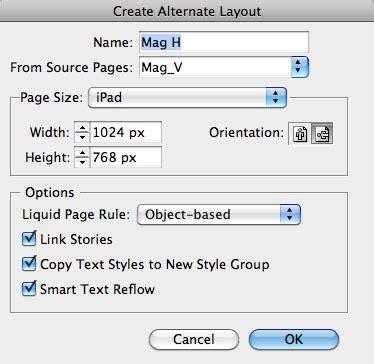 delete alternate layout indesign cc indesign how to using alternate layout creativepro com