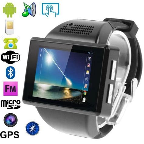 montre t 233 l 233 phone android 4 1 smartwatch tactile achat