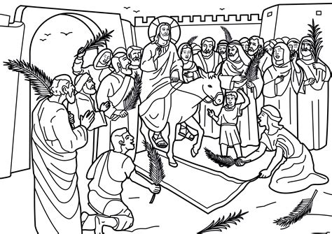 coloring page jesus rides into jerusalem jesus triumphant entry into jerusalem book covers