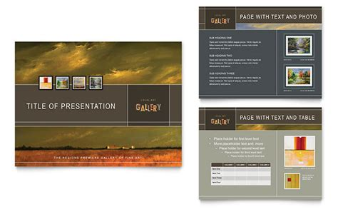 design brochure using powerpoint art gallery artist powerpoint presentation template design