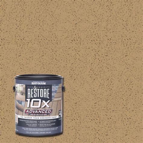 rust oleum restore  gal  advanced sandstone deck