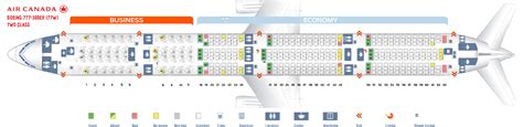 seating chart boeing 777 seating chart boeing 777 300er air canada seat map air