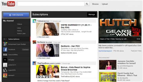 old youtube layout 2011 new look youtube design and how to get it