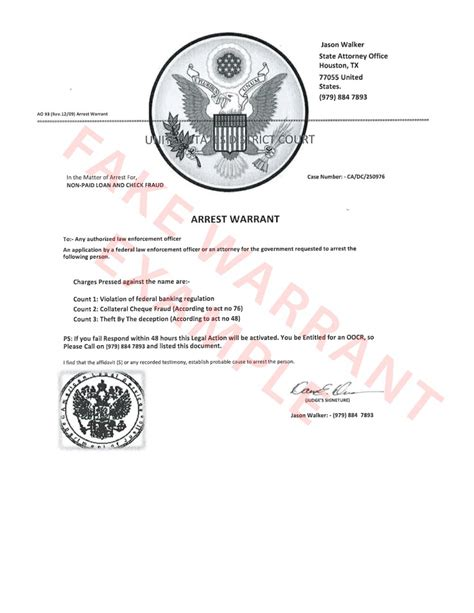 State Of Utah Warrant Search Scam Alert False Arrest Warrants Circulating In Iron