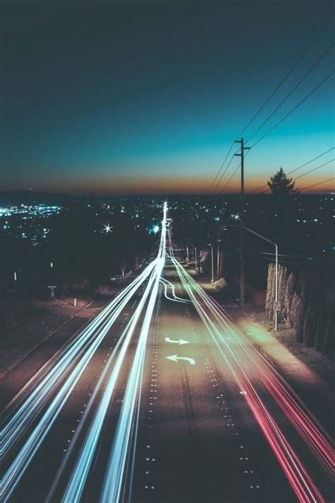 tumblr wallpaper road blurry city lights tumblr