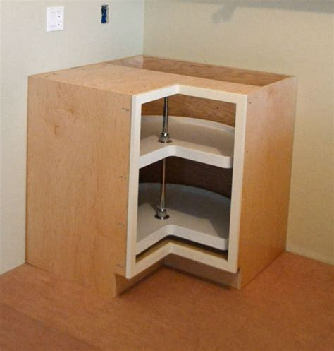 building a corner kitchen cabinet building a bathroom diy diy corner cabinet lazy susan plans free
